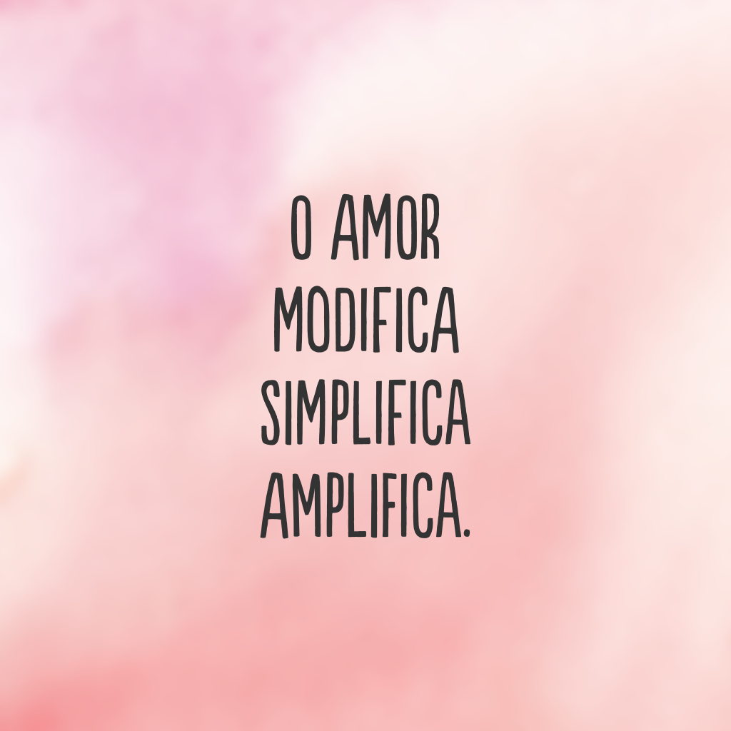 O amor