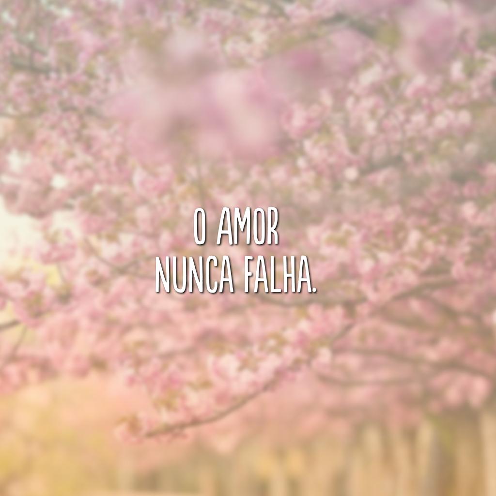 O amor nunca falha.