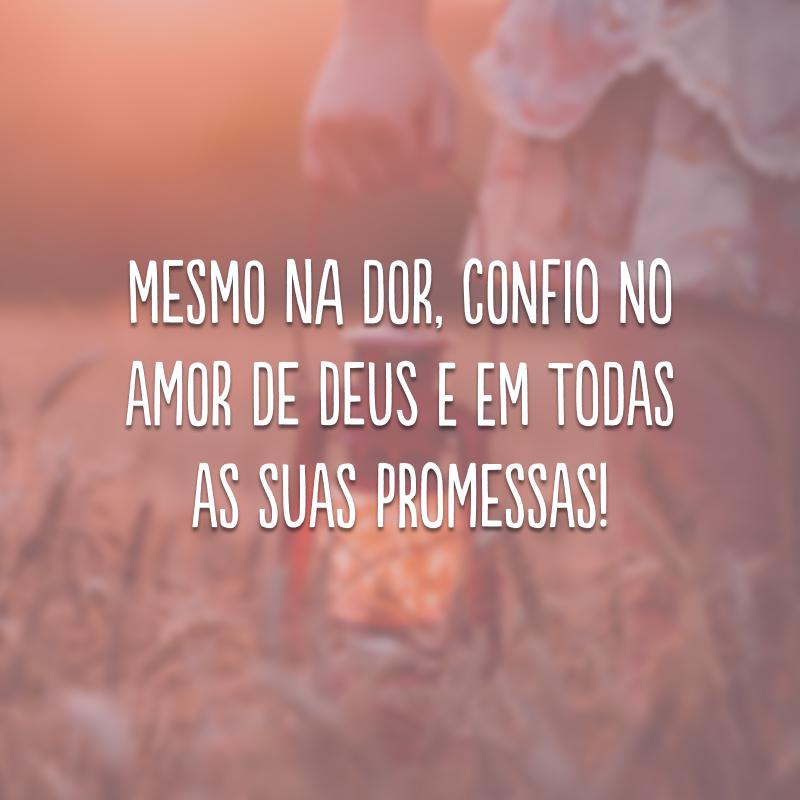 Mesmo na dor, confio no amor de Deus e em todas as suas promessas!