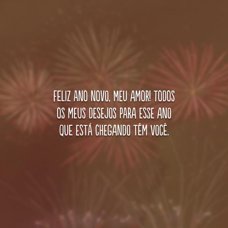 Feliz Ano Novo, meu amor! Todos os meus desejos para esse ano que está chegando têm você.