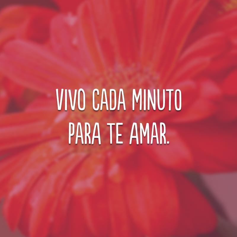 Vivo cada minuto para te amar.