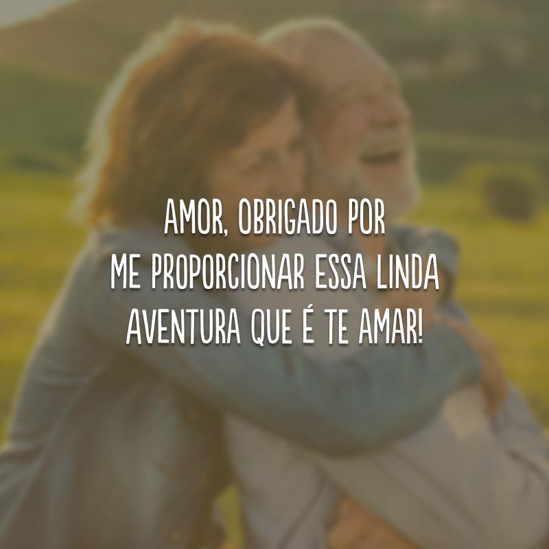 Amor, obrigado por me proporcionar essa linda aventura que é te amar!